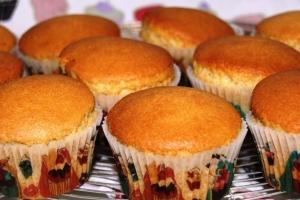 cupcakes vanille avant déco