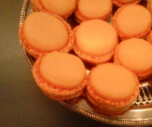 macarons orange curd