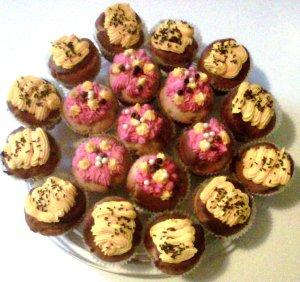 plateau de cupcakes