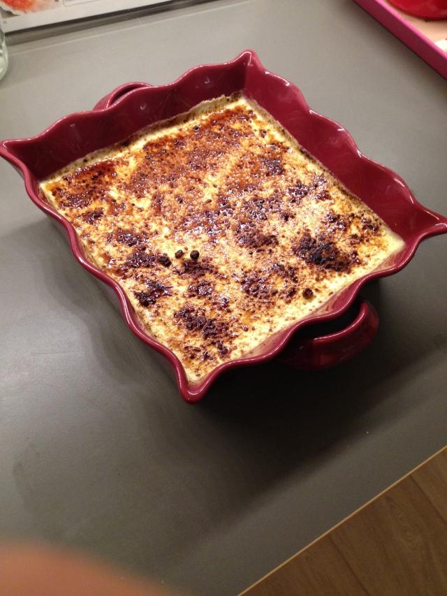 crème catalane orange façon cheese cake